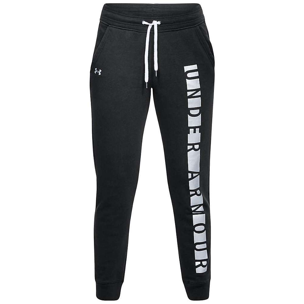 Under Armour Women's UA Favorite Fleece Graphic Pant - Medium - Black / White