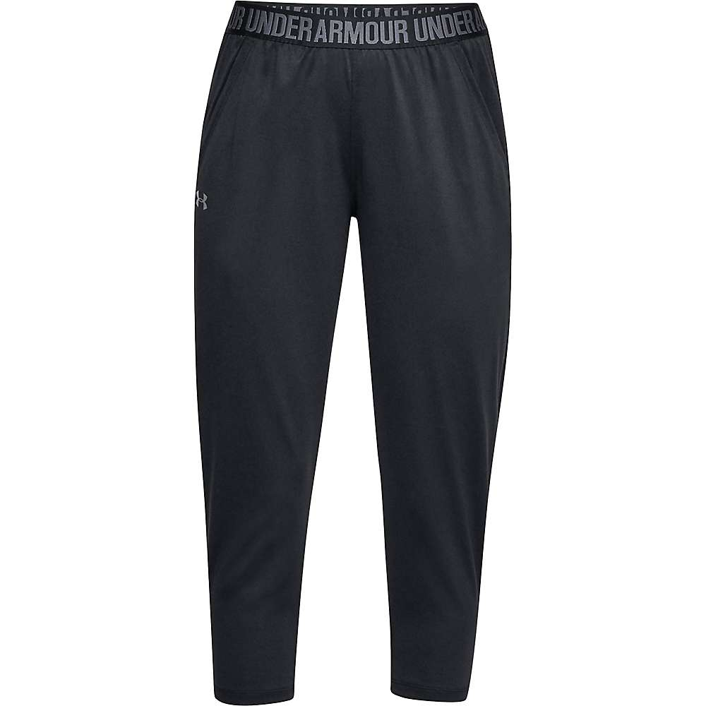 Under Armour Women's UA Play Up Tech Capri - Medium - Black / Black / Metallic Silver