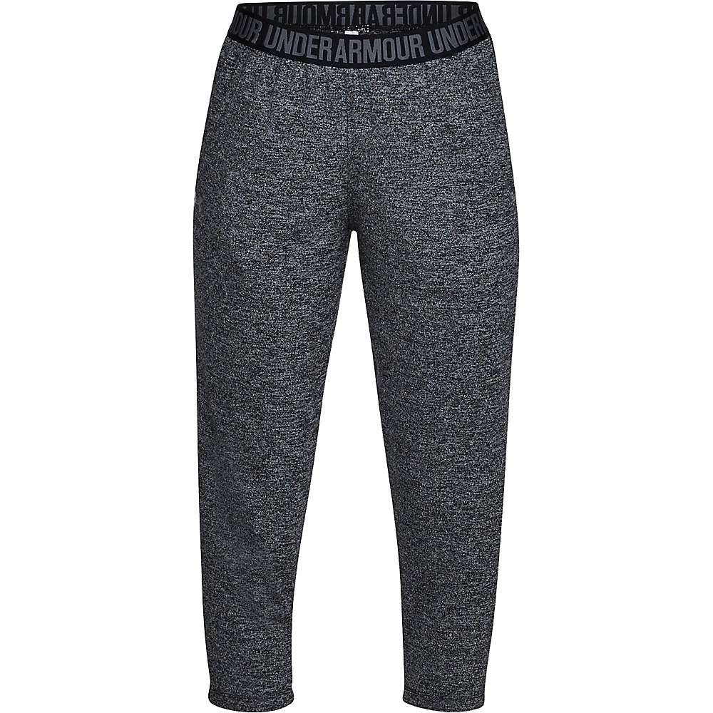 Under Armour Women's UA Play Up Tech Twist Capri - Medium - Black / Black / Metallic Silver