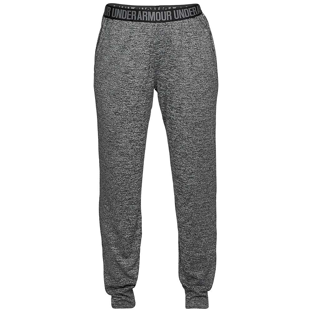 Under Armour Women's UA Play Up Tech Twist Pant - Medium - Black / Black / Metallic Silver
