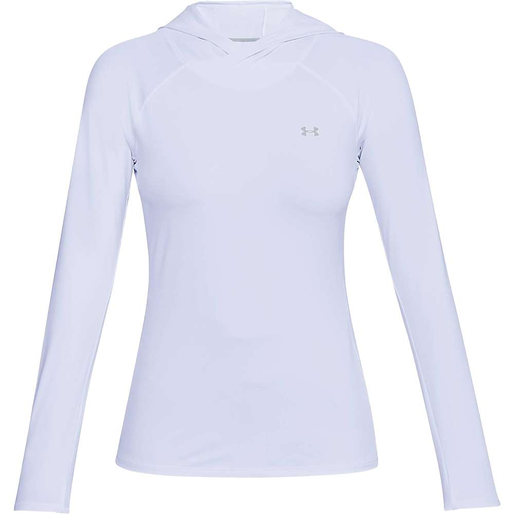 Under Armour Women's UA Sunblock Hoodie - Small - White / Overcast Grey / Overcast Grey