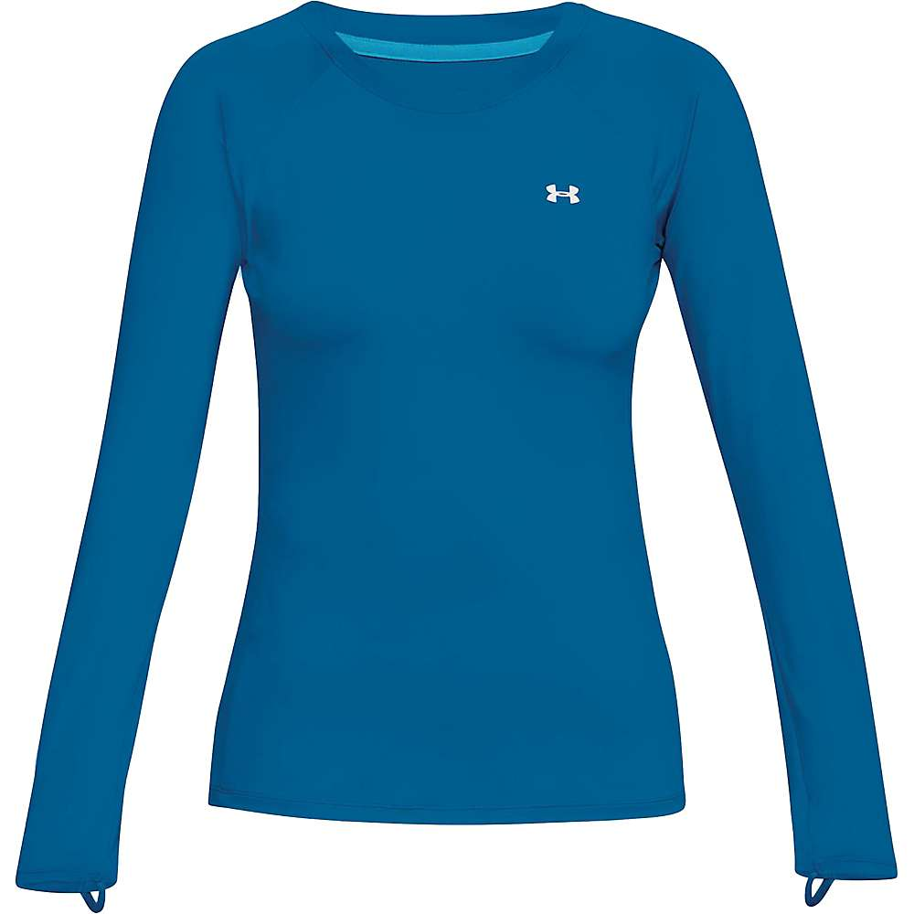 Under Armour Women's UA Sunblock LS Top - Small - Cruise Blue / Canoe Blue / White