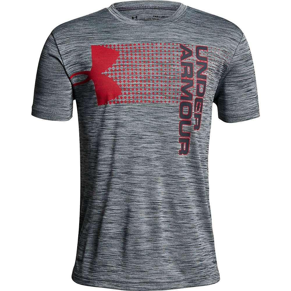 Under Armour Boys' UA Crossfade Tee - XL - Stealth Grey / Red / Stealth Grey