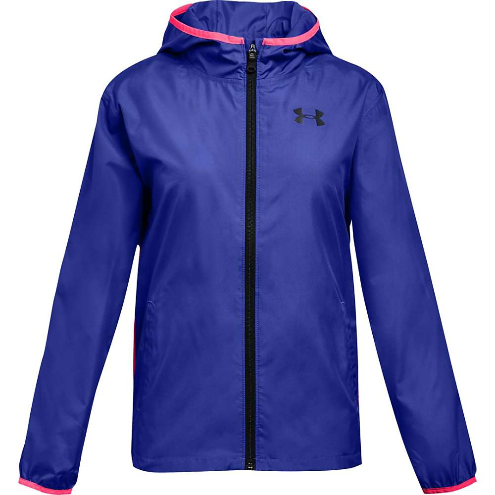 Under Armour Girls' UA Sack It Full Zip Jacket - Medium - Constellation Purple / Black