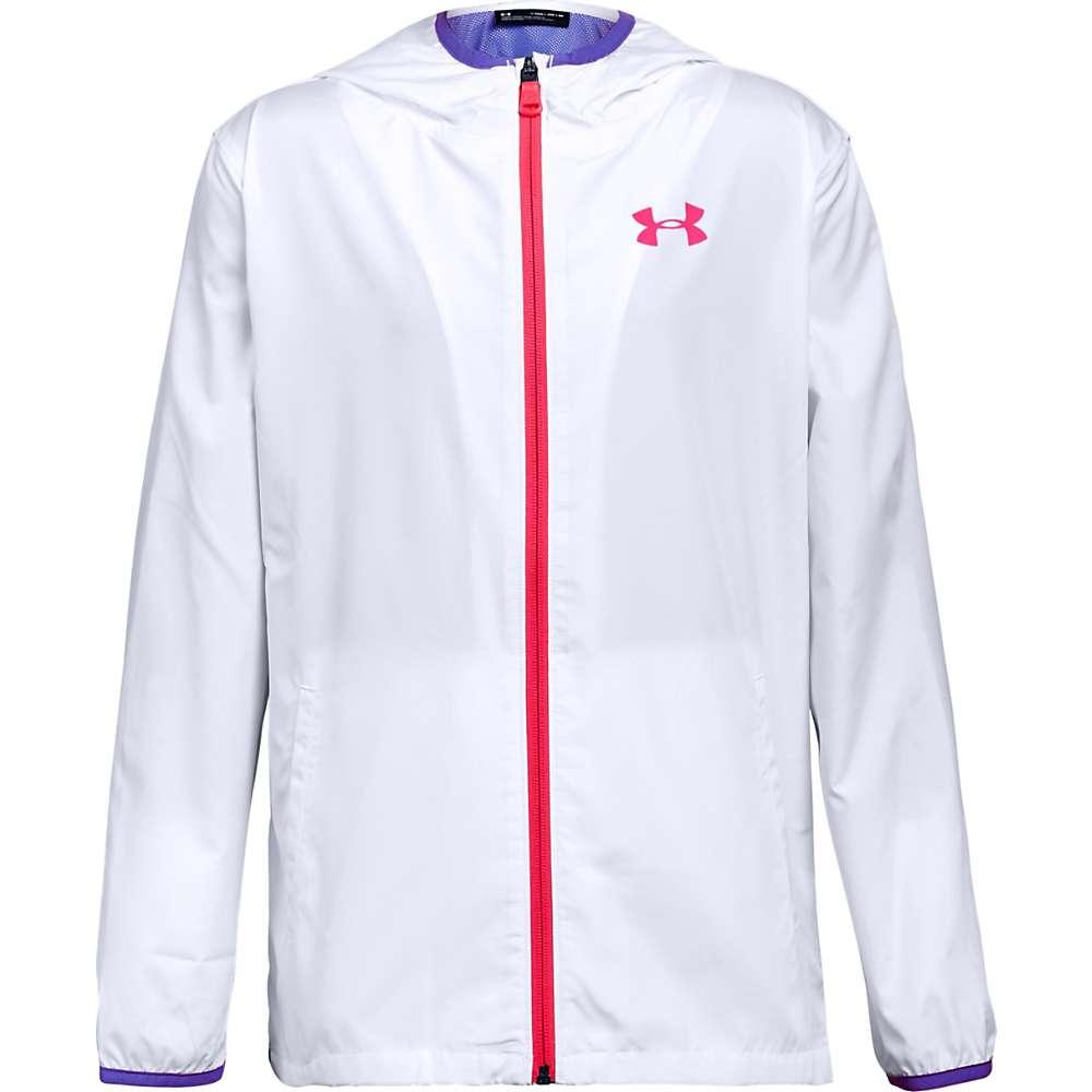Under Armour Girls' UA Sack It Full Zip Jacket - XL - White / Penta Pink