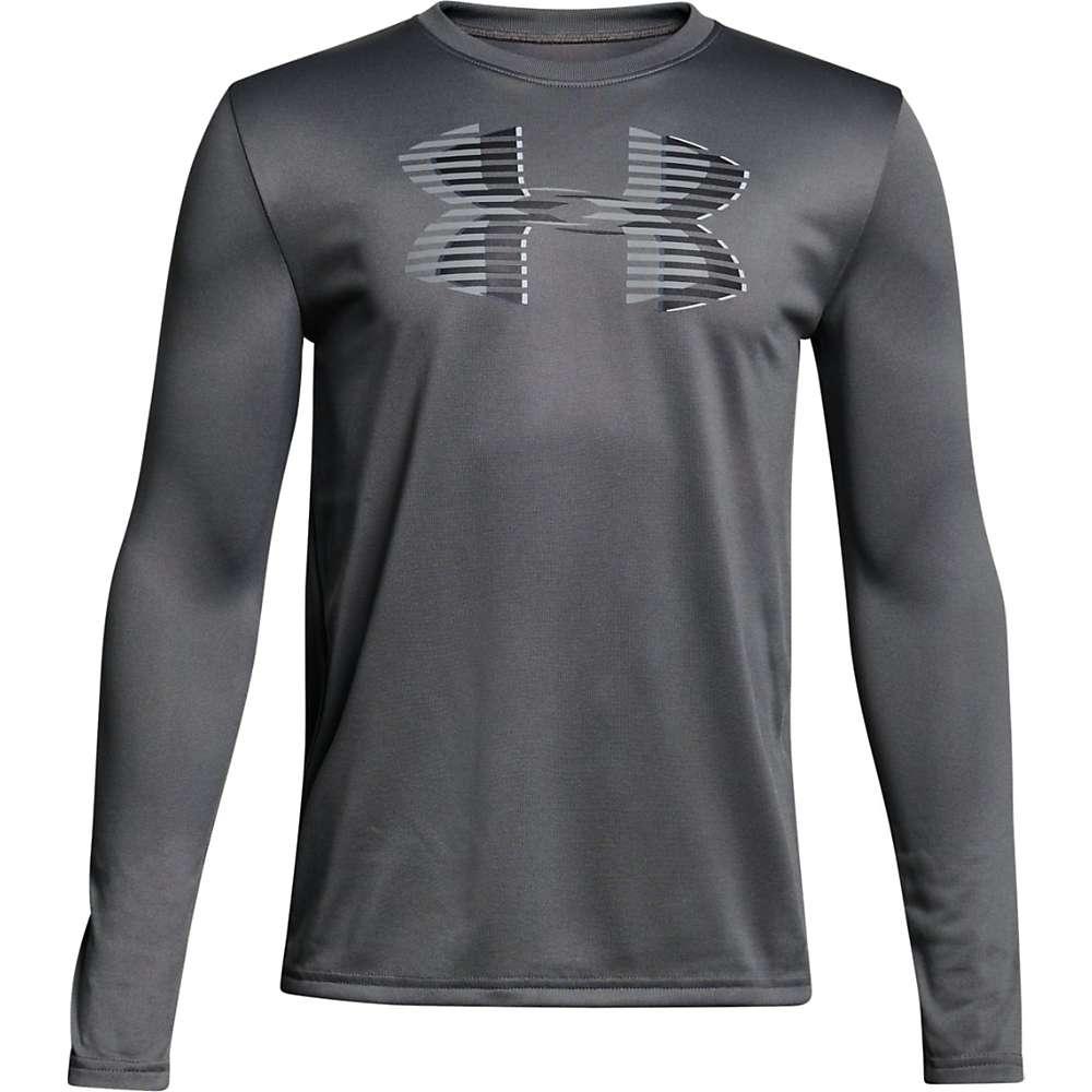 Under Armour Boys' UA Tech Big Logo LS Tee - Small - Graphite / Black