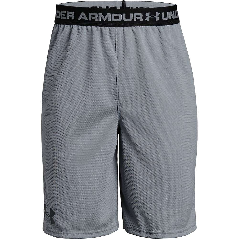 Under Armour Boys' UA Tech Prototype Short - Small - Steel / Black