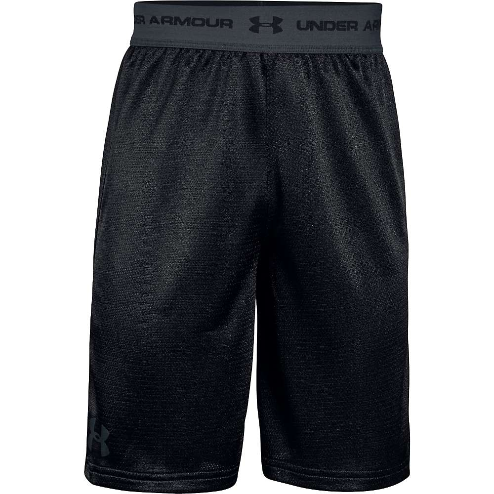 Under Armour Boys' UA Tech Prototype Short - XL - Black / Stealth Gray / Stealth Gray