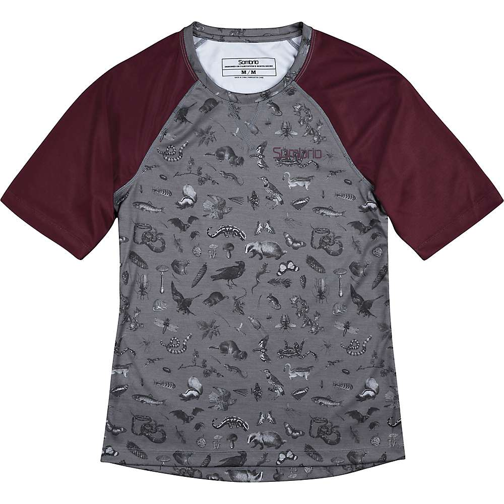 Sombrio Women's Alder Jersey - Large - Grey Forest Creatures