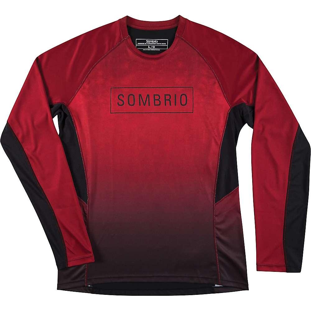 Sombrio Men's Pursuit Jersey - Large - Deep Red Tie Dye
