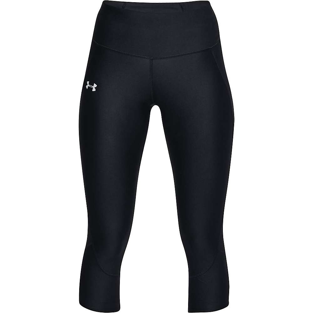 Under Armour Women's UA Superfast Capri - Large - Black / Black / Reflective