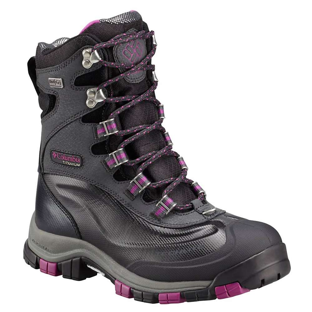 Columbia Women's Bugaboot Plus Titanium Omni-Heat Outdry Boot - 9 - Black / Intense Violet