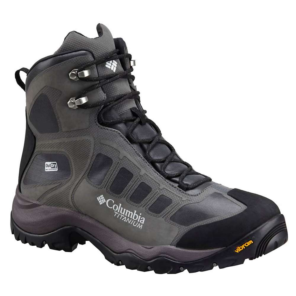 Columbia Men's Daska Pass III Titanium Outdry Extreme Boot - 9 - Black / White