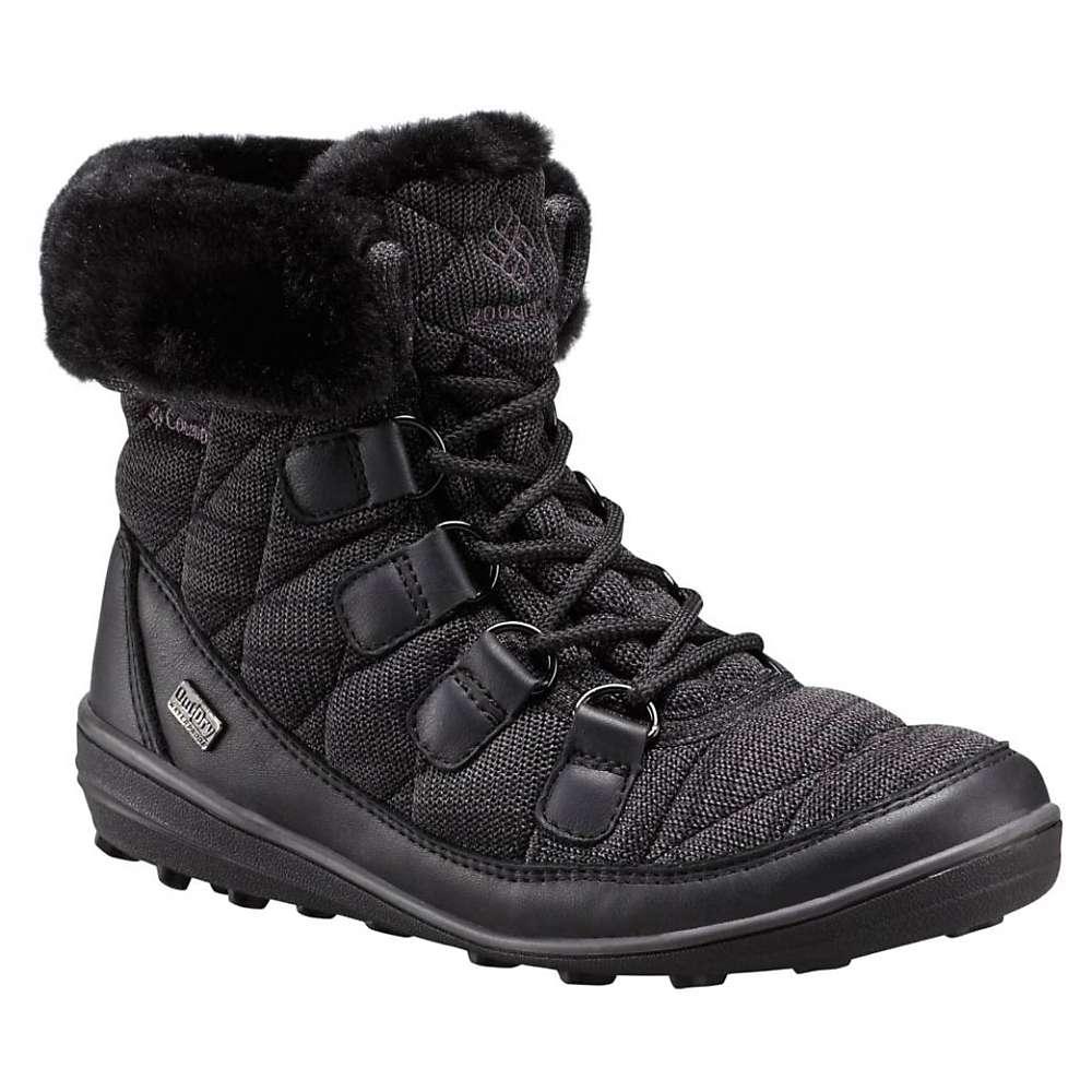 Columbia Women's Heavenly Chimera Shorty Omni-Heat Outdry Boot - 9 - Black / Dark Grey