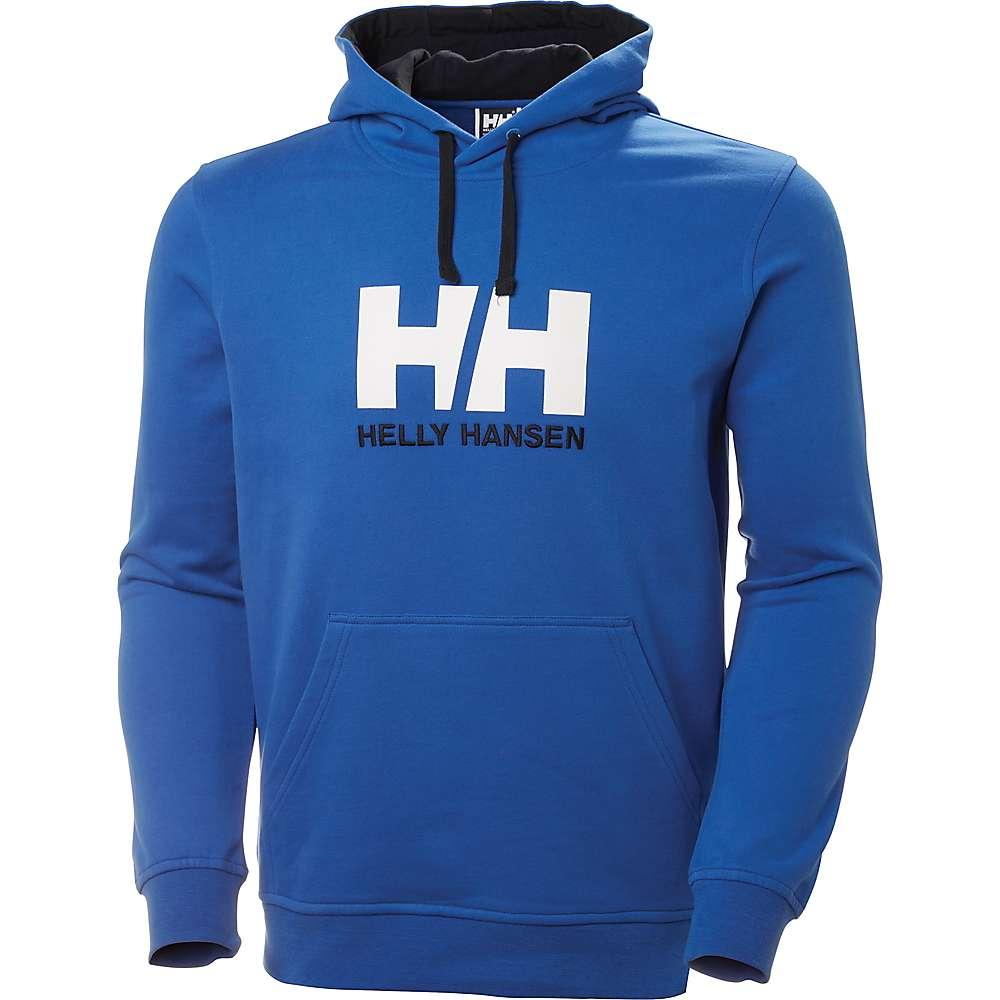 Helly Hansen Men's Logo Hoodie - Large - Olympian Blue