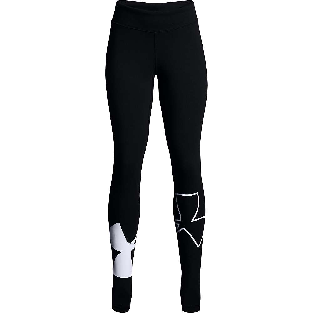 Under Armour Girls' Favorite Knit Legging - Medium - Black / Black / White