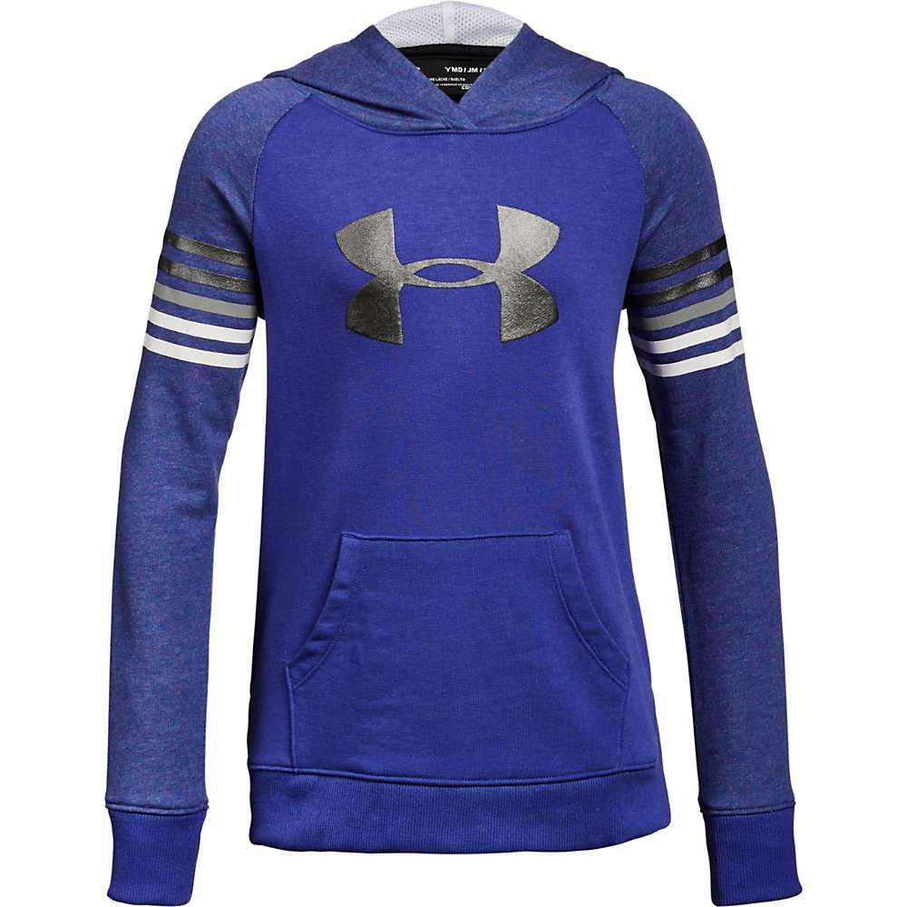 Under Armour Girls' Favorite Terry Hoody - Medium - Constellation Purple / Black