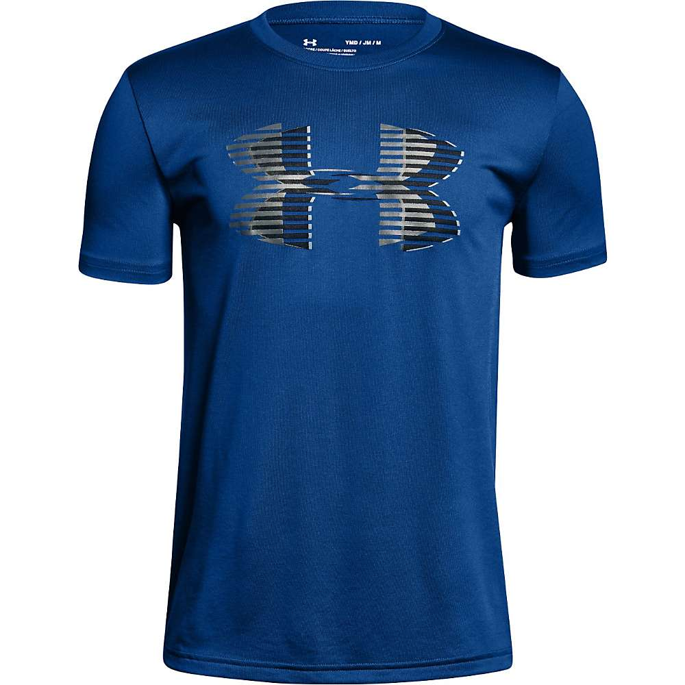 Under Armour Boys' Tech Big Logo Solid Tee - Large - Royal / Black / Graphite