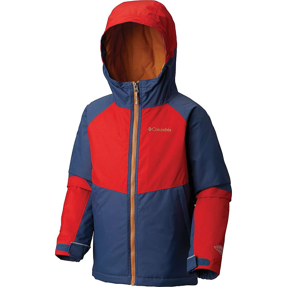 Columbia Youth Boys Alpine Action II Jacket - Large - Dark Mountain / Red Spark