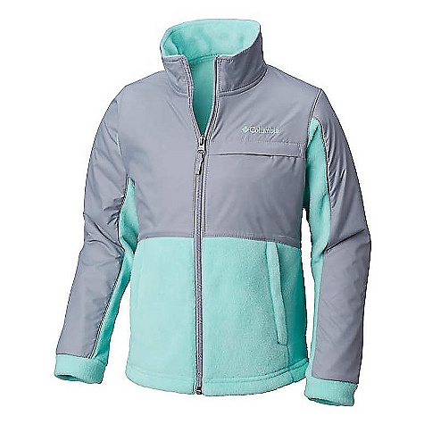 Columbia Youth Girls Benton Springs III Overlay Fleece Jacket