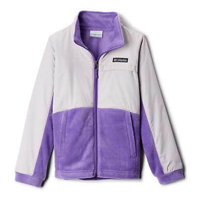 Columbia Youth Girls Benton Springs III Overlay Fleece Jacket - Grape Gum/Silver Grey