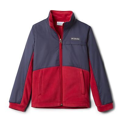 Columbia Youth Girls Benton Springs III Overlay Fleece Jacket - Pomegranate/Nocturnal