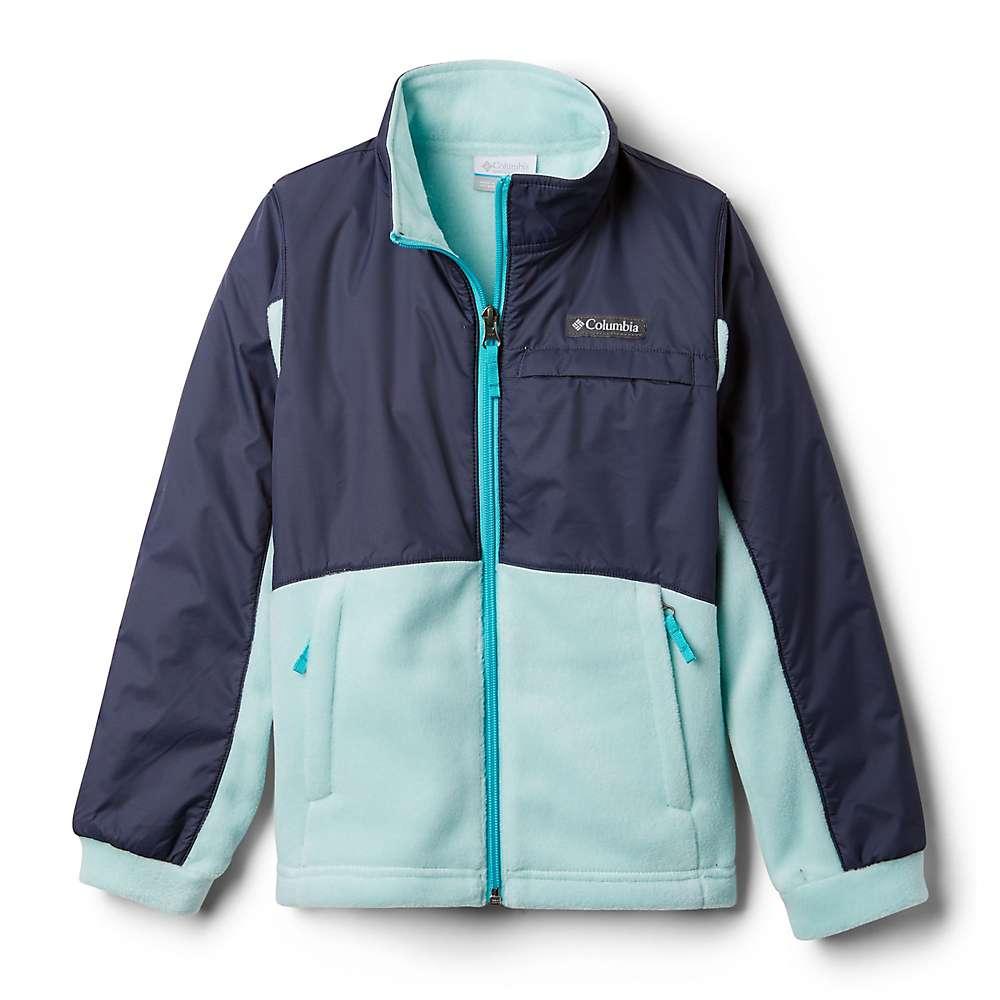 Columbia Youth Girls Benton Springs III Overlay Fleece Jacket - XS - Spray/Nocturnal