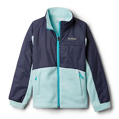Columbia Youth Girls Benton Springs III Overlay Fleece Jacket - Spray/Nocturnal