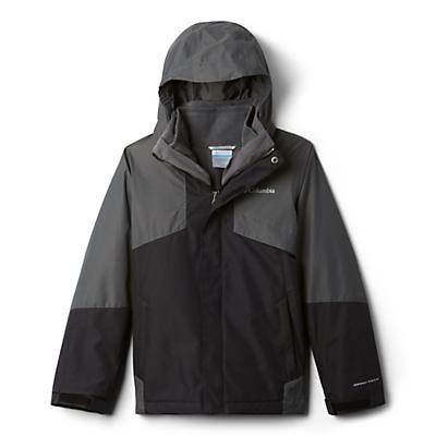 Columbia Youth Boys Bugaboo II Fleece Interchange Jacket - Black/Grill