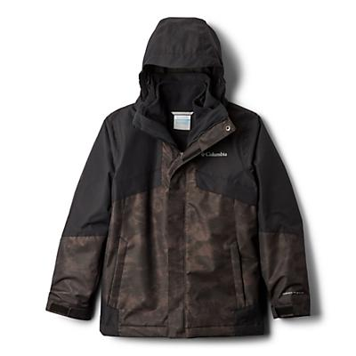 Columbia Youth Boys Bugaboo II Fleece Interchange Jacket - Black Cloudy/Black