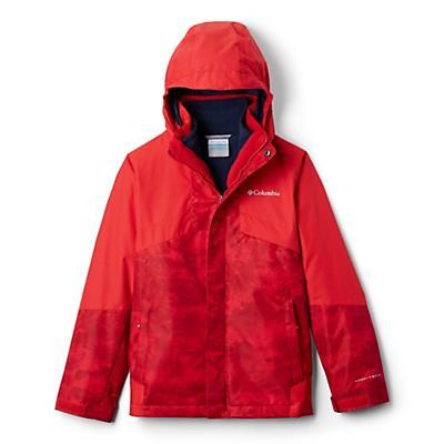 Columbia Youth Boys Bugaboo II Fleece Interchange Jacket - Mountain Red Cloudy/Mountain Red