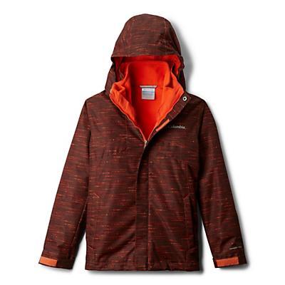 Columbia Youth Boys Bugaboo II Fleece Interchange Jacket - State Orange Tweed