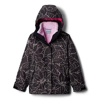 Columbia Youth Girls Bugaboo II Fleece Interchange Jacket - Black Floral