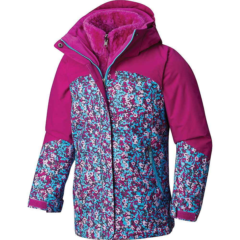 Columbia Youth Girls Bugaboo II Fleece Interchange Jacket - XL - Atoll Floral Print