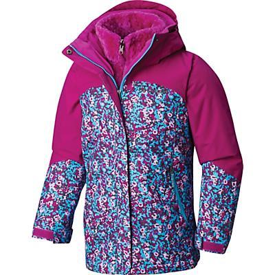 Columbia Youth Girls Bugaboo II Fleece Interchange Jacket - Atoll Floral Print