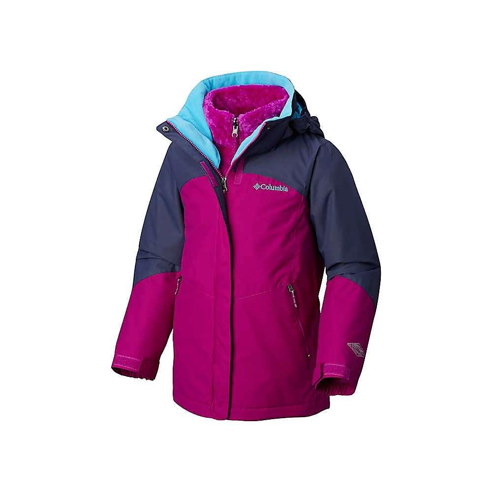 Columbia Youth Girls Bugaboo II Fleece Interchange Jacket - Small - Bright Plum / Nocturnal