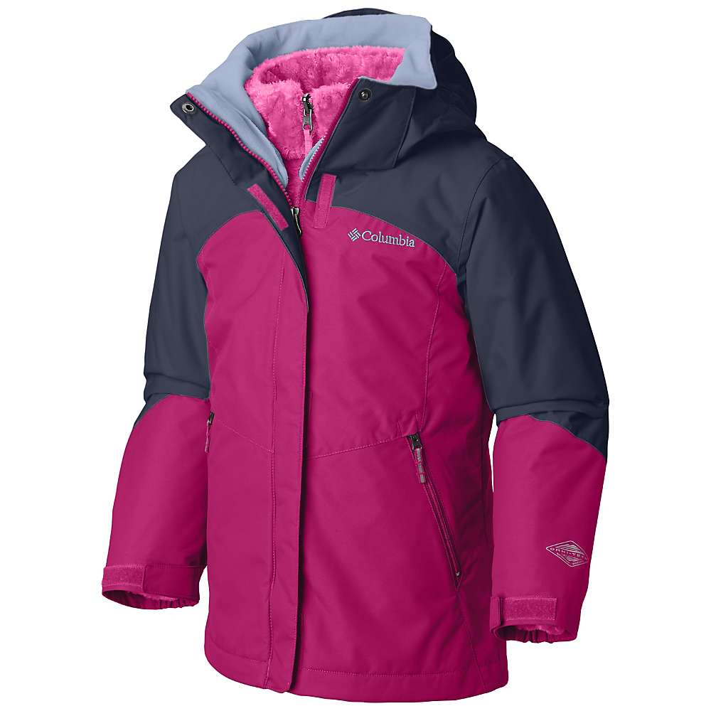 Columbia Youth Girls Bugaboo II Fleece Interchange Jacket - Cactus Pink / Nocturnal