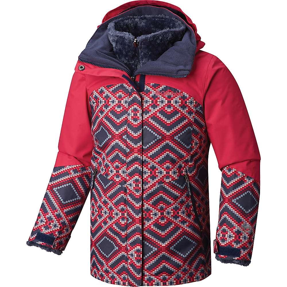 Columbia Youth Girls Bugaboo II Fleece Interchange Jacket - Nocturnal Microgeo Print