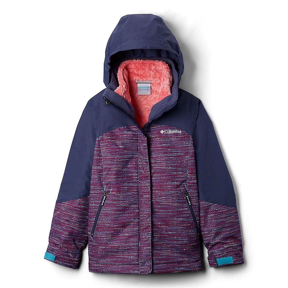 Columbia Youth Girls Bugaboo II Fleece Interchange Jacket - Small - Geyser Tweed/Nocturnal