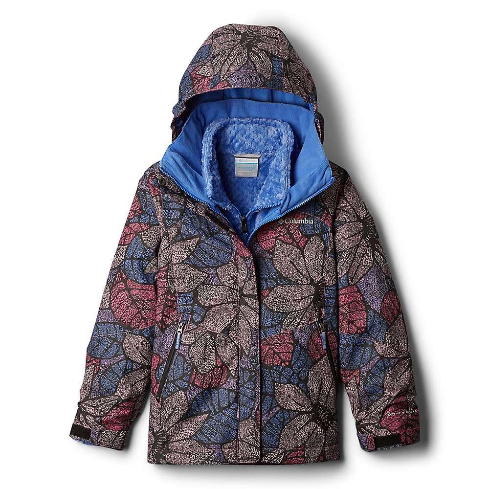 Columbia Youth Girls Bugaboo II Fleece Interchange Jacket - XS - Arctic Blue Floral Print/Arctic Blue