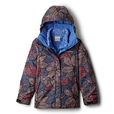 Columbia Youth Girls Bugaboo II Fleece Interchange Jacket - Arctic Blue Floral Print/Arctic Blue