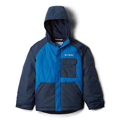 Columbia Youth Boys Casual Slopes Jacket - Super Blue Heather/Coll Navy Heather