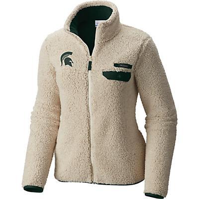 Columbia Collegiate Mountain Side Heavyweight Fleece Jacket - Ms - Chalk / Spruce - Women