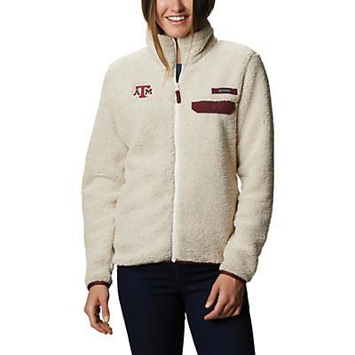 Columbia Collegiate Mountain Side Heavyweight Fleece Jacket - Tam - Chalk / Deep Maroon - Women