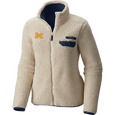 Columbia Collegiate Mountain Side Heavyweight Fleece Jacket - Um - Chalk / Collegiate Navy - Women