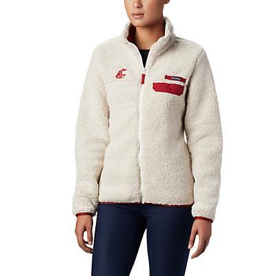 Columbia Collegiate Mountain Side Heavyweight Fleece Jacket - Waz - Chalk / Red Velvet - Women