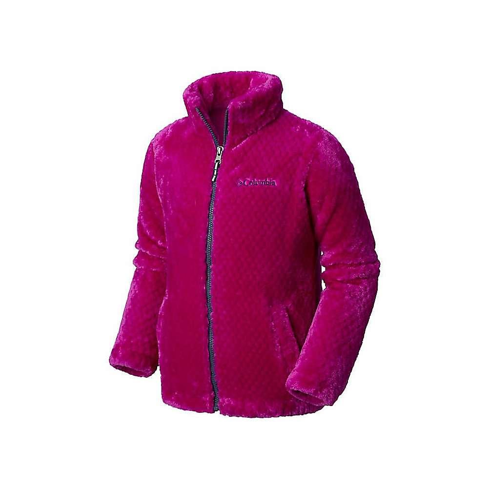 Columbia Youth Girls Fluffy Fleece Full Zip Jacket - Bright Plum / Nocturnal