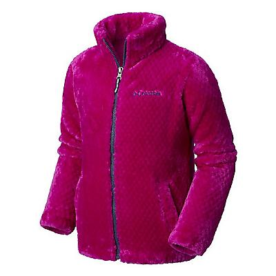 Columbia Youth Girls Fluffy Fleece Full Zip Jacket - Large - Bright Plum / Nocturnal