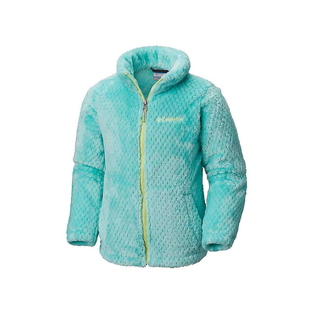 Columbia Youth Girls Fluffy Fleece Full Zip Jacket - XS - Pixie / Tippet