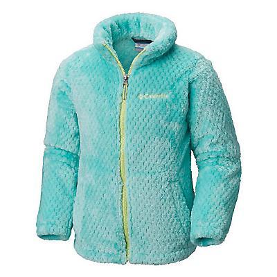Columbia Youth Girls Fluffy Fleece Full Zip Jacket - Pixie / Tippet